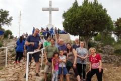 il gruppetto alla fine della via crucis