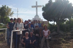 il gruppetto alla fine della via crucis sul monte Krizevac