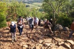 la fatica della via crucis sul monte Krizevac..