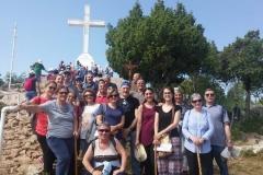 il gruppetto sul monte Krizevac