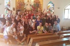 alla fine della Messa alla comunità cenacolo