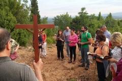 la preghiera della via crucis sul monte krizevac