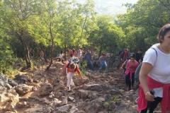 la fatica nella preghiera della via crucis sul monte krizevac