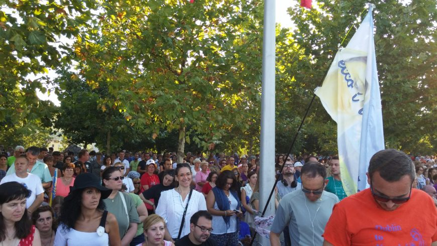 """Ancora un momento del pellegrinaggio del festival giovani Medjugorje """""""