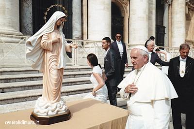 Papa Francesco e Papa Benedetto con la Madonna di Medjugorje….