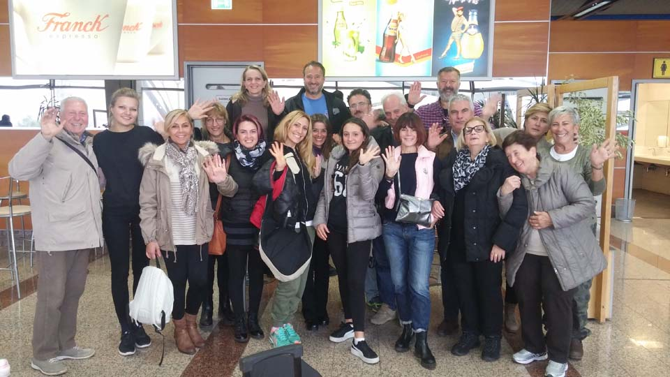 """I """"bambini pellegrini"""" del pellegrinaggio a Medjugorje in aereo del 31 ottobre 3 novembre 2017"""