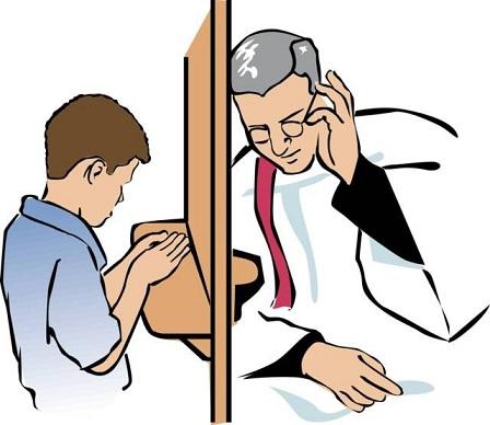 Risultati immagini per confessione cartoon
