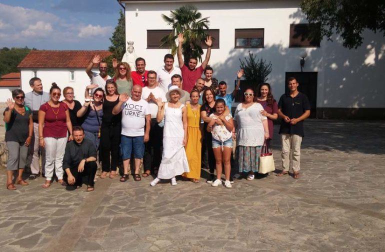 """I """"bambini pellegrini"""" del pellegrinaggio a Medjugorje in traghetto del 31 luglio 6 agosto 2018 festival giovani"""