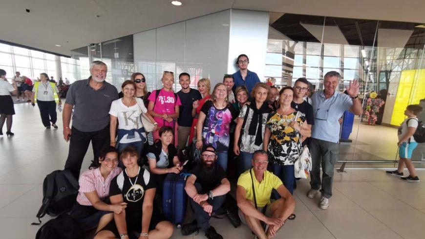 """I """"bambini pellegrini"""" del pellegrinaggio a Medjugorje in aereo del 31 luglio – 6 agosto 2019 festival dei giovani"""
